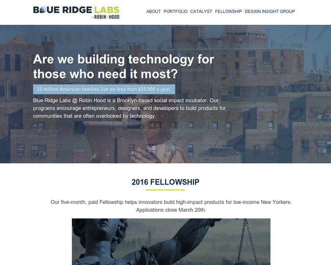 Blue Ridge Labs at Robin Hood