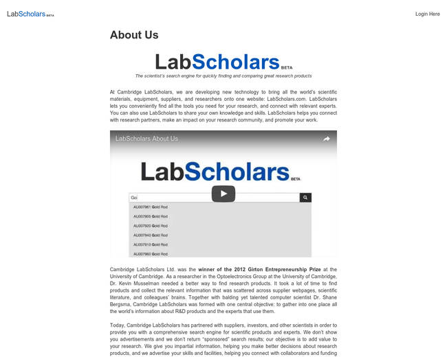 Cambridge LabScholars