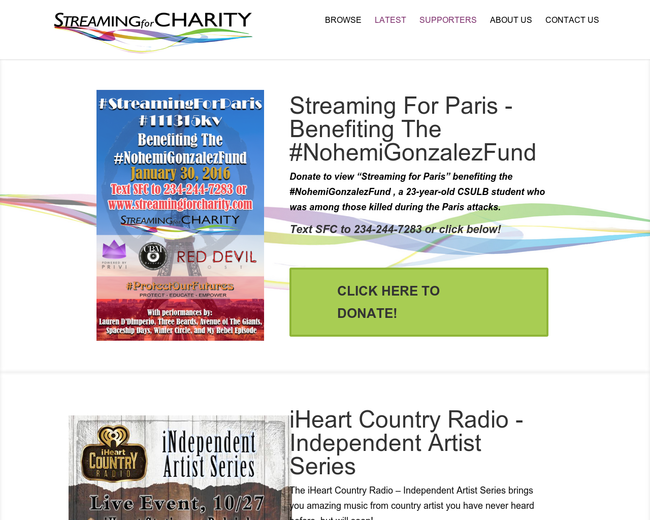 Streaming For Charity
