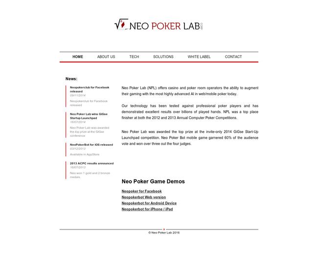 Neo Poker Lab