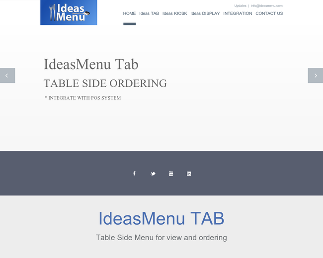 Ideas Menu
