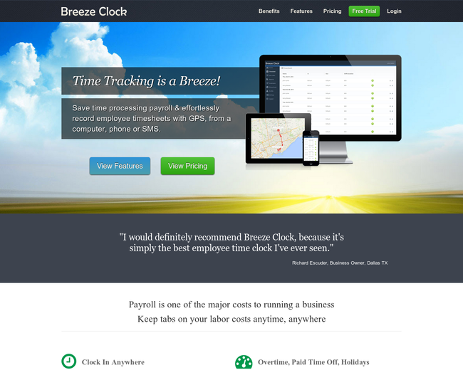 Breeze Clock