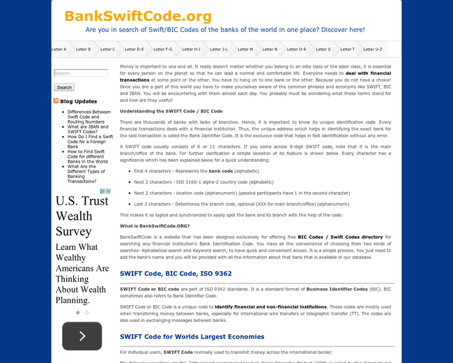 Bank Swift Code