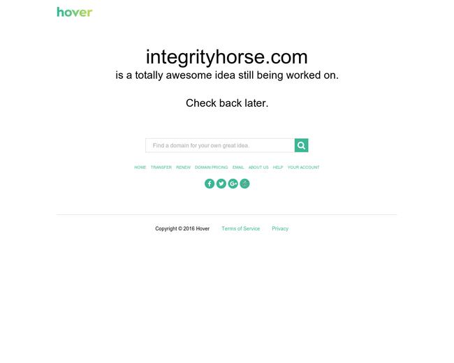 INTEGRITY HORSE