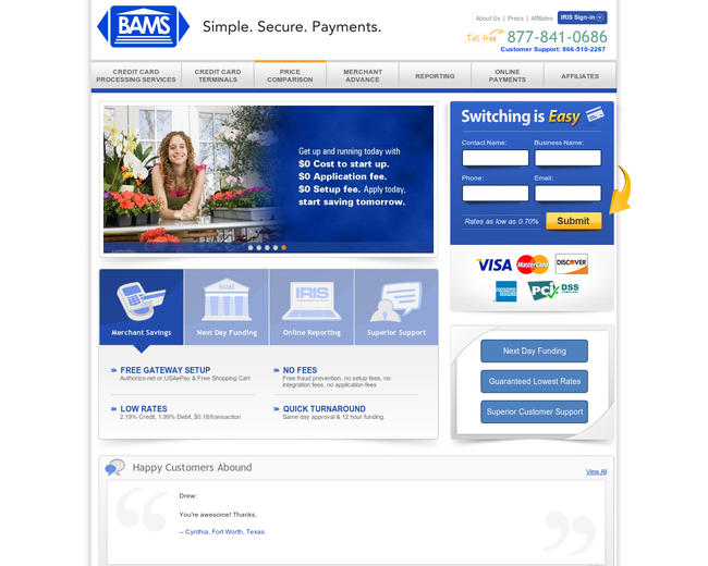 Bank Associates Merchant Services (BAMS)