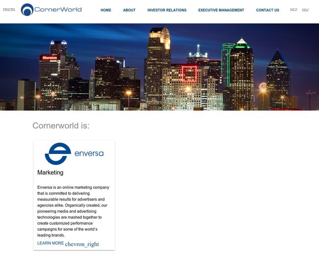 CornerWorld Corp, Enversa Companies,