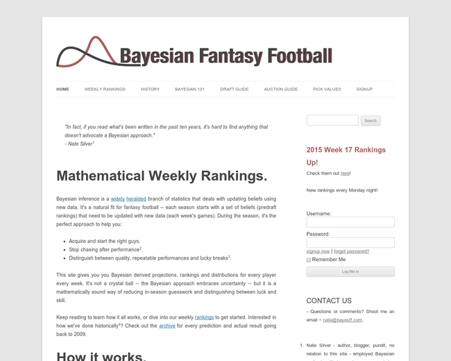 Bayesian Fantasy Football