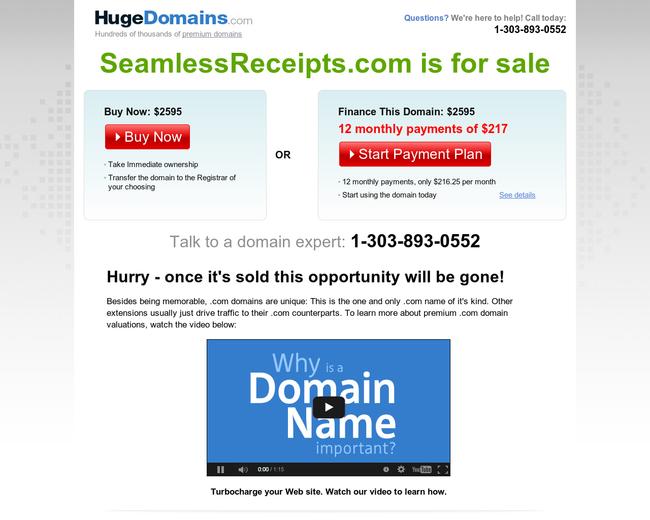 Seamless Receipts