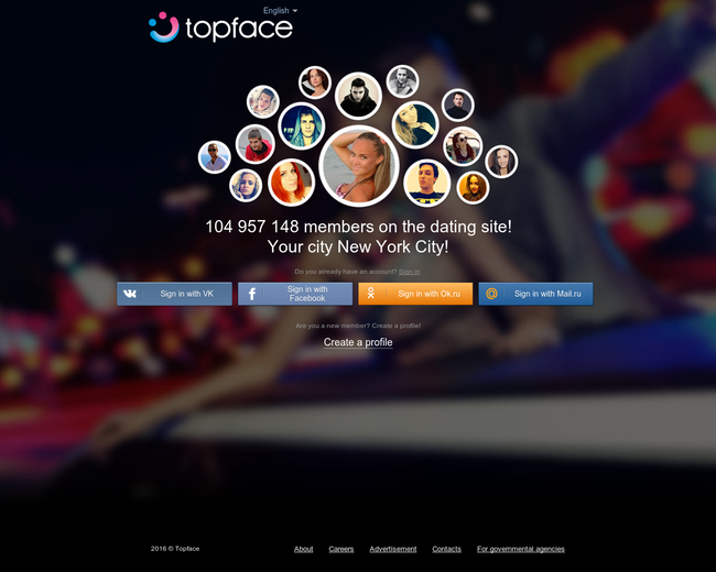 topface dating type all