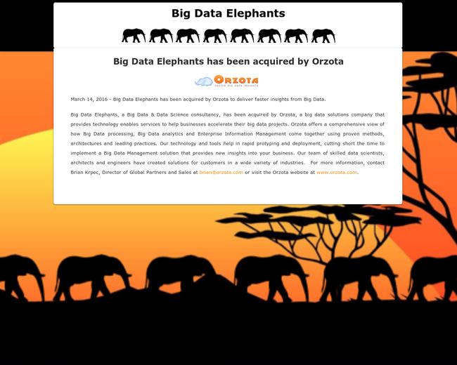 Big Data Elephants