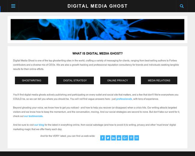 Digital Media Ghost