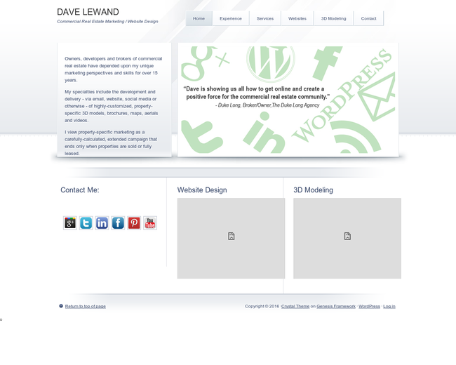 DAVE LEWAND Marketing Services on Iterate Studio