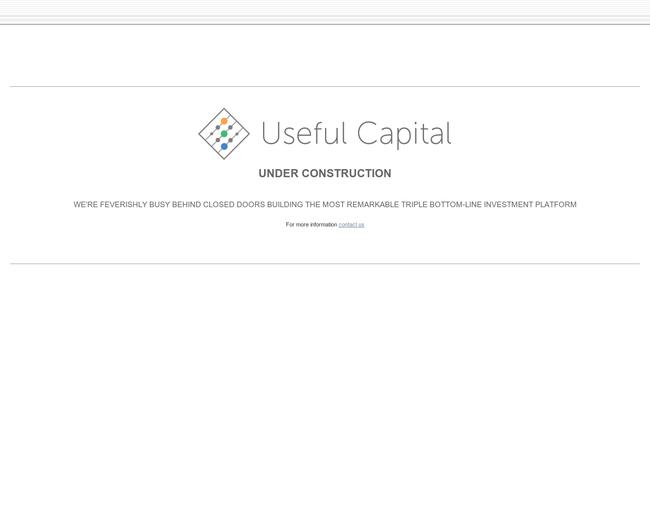 Useful Capital