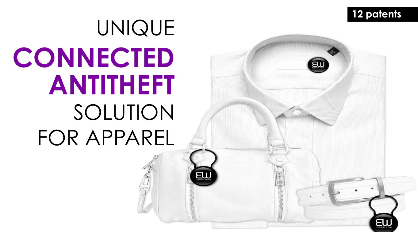 Connected antitheft solution for apparel