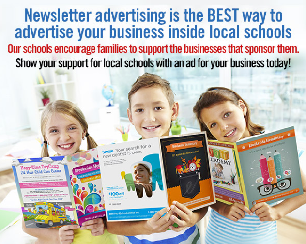 Advertising in High-Quality, Full-Color Magazine-Style School Newsletters