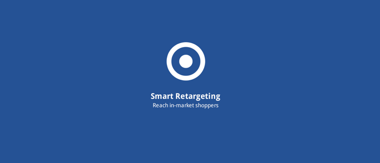 Smart Web Retargeting: Retargeting optimized with AddShoppers behavioral data.
