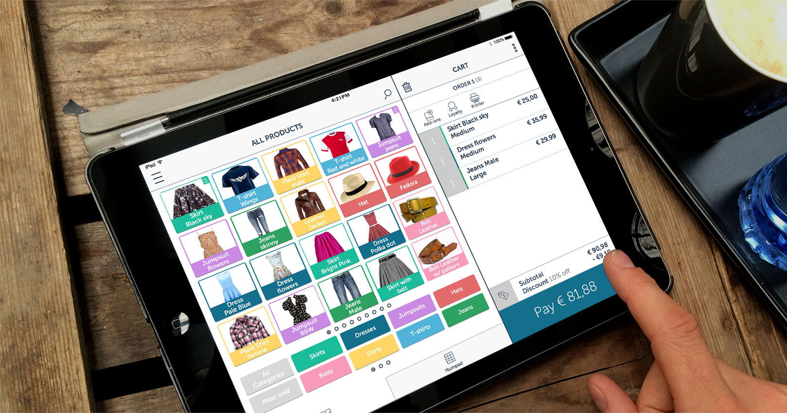 The complete retail solution: Cash Register, Mobile POS, inventory management, omnichannel, retail reporting and more...