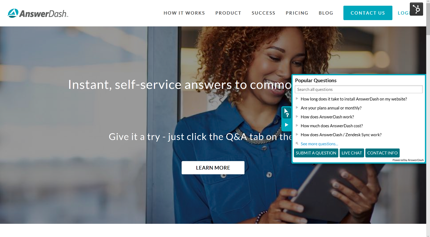SaaS‐Based, Contextual Self-Service Q&A