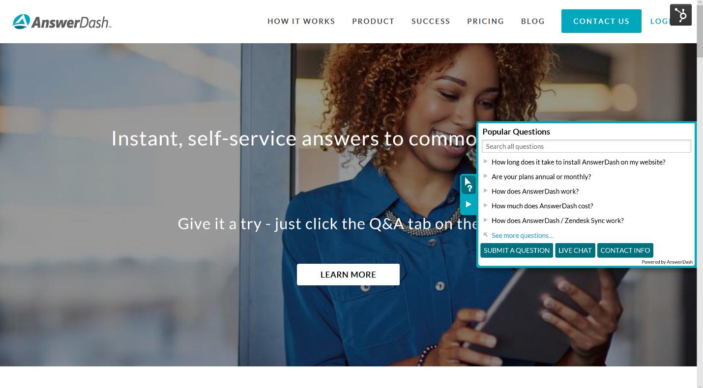 SaaS‐Based, Contextual Self-Service Q&A