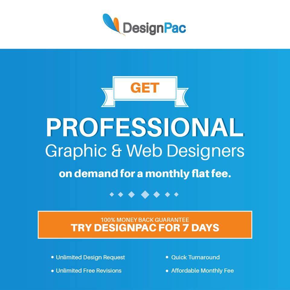Unlimited Graphic Design Service on a monthly flat fee