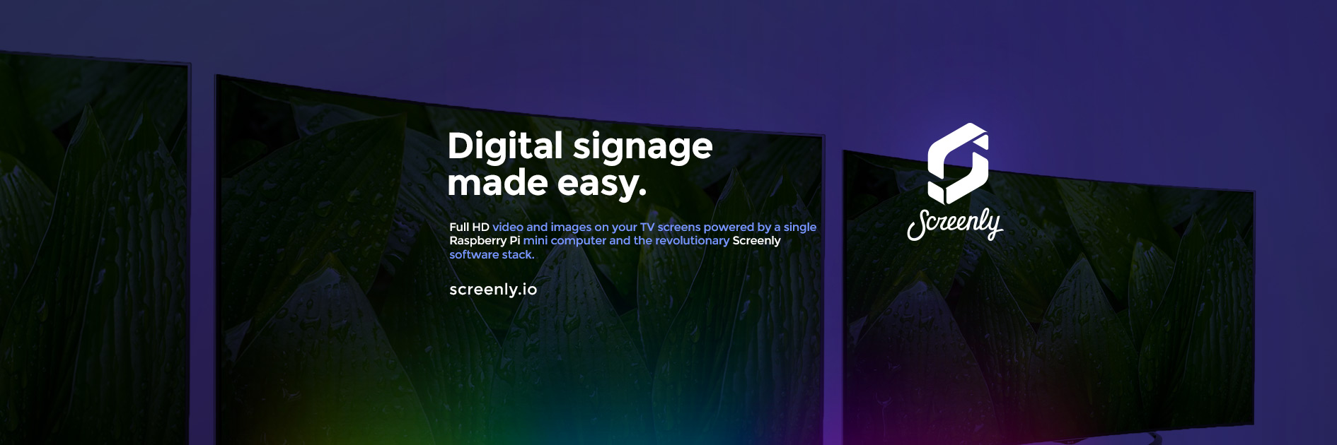 Screenly is digital signage mad easy