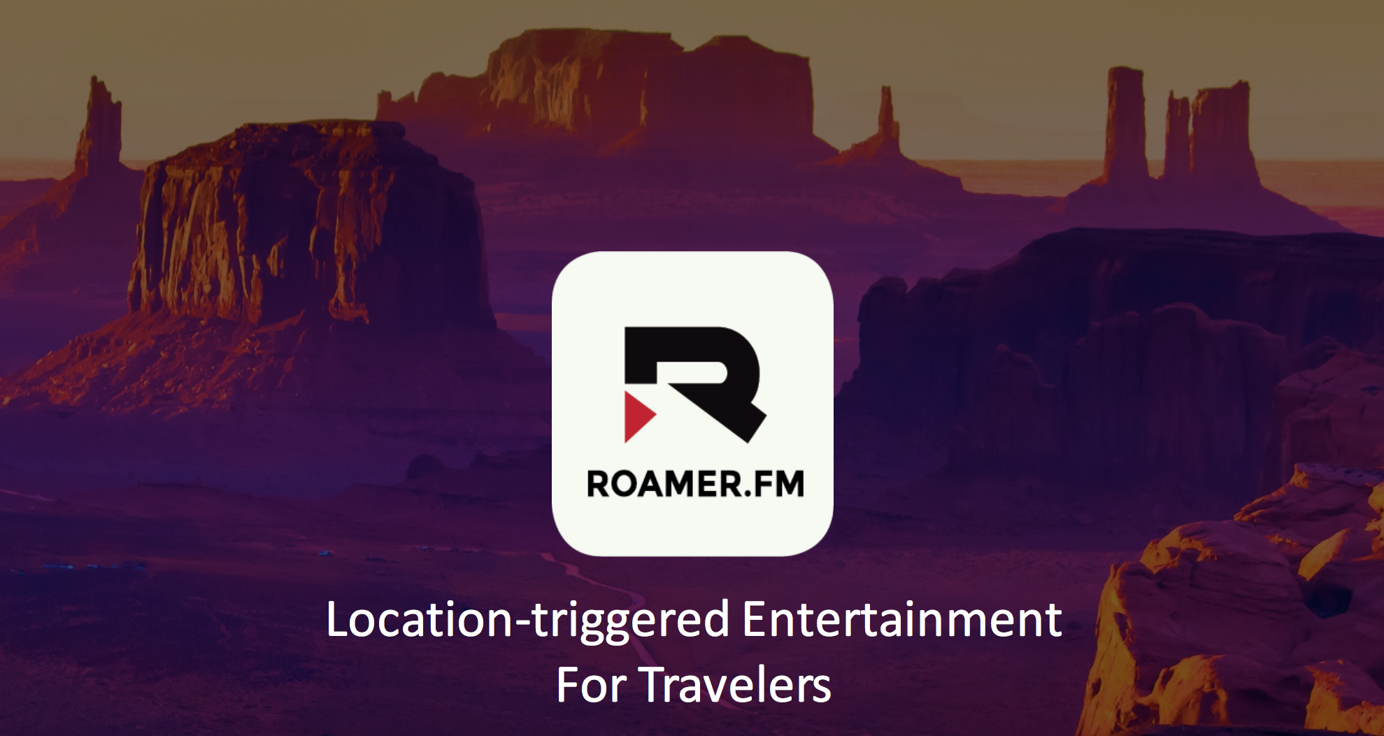 Deliver content to travelers in a specific location.