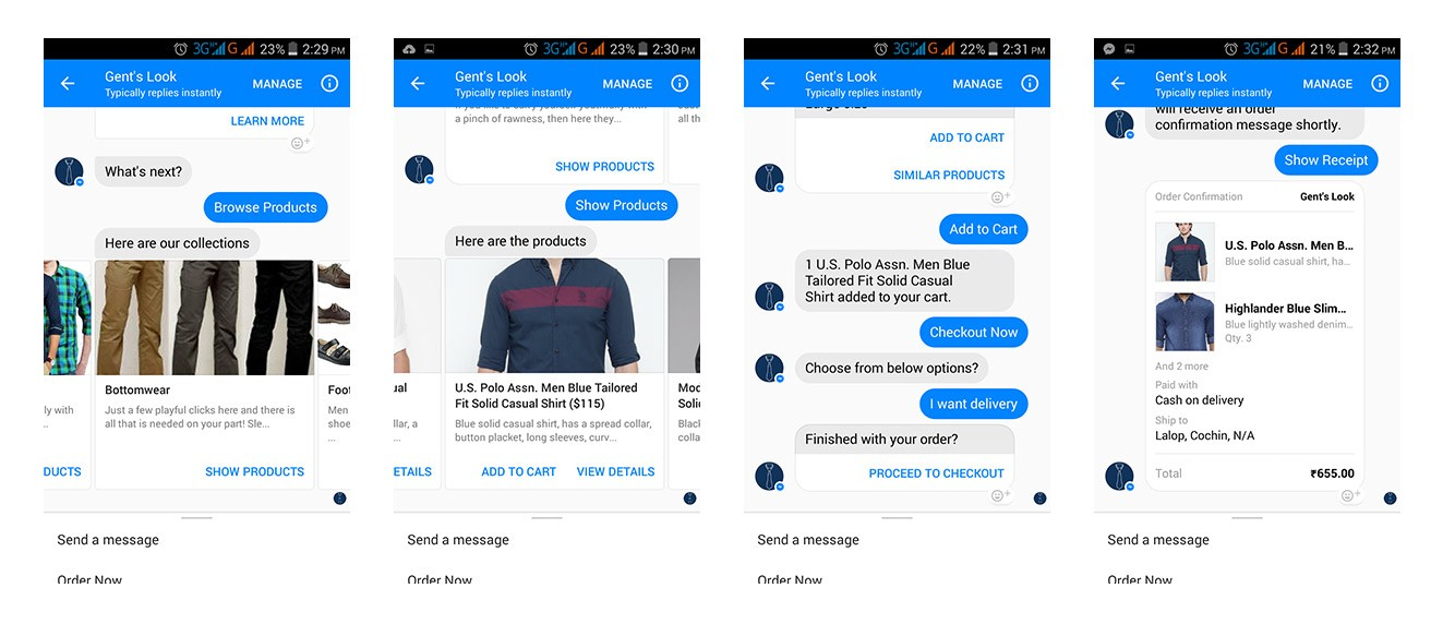 Chatbots for e-commerce