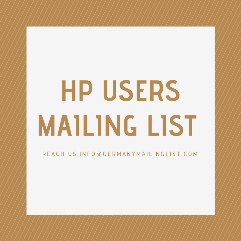 HP Users Mailing List