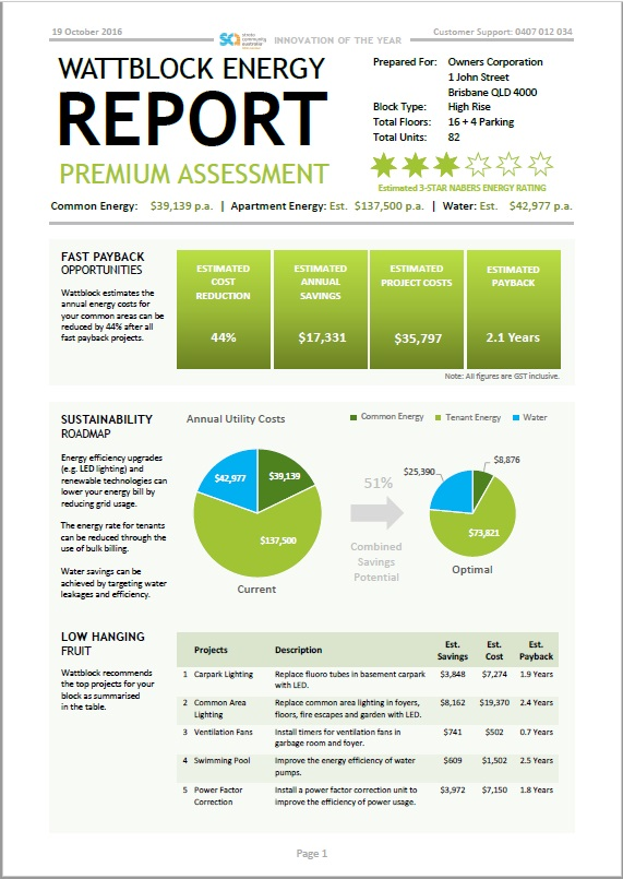 Apartment Building Sustainability Report