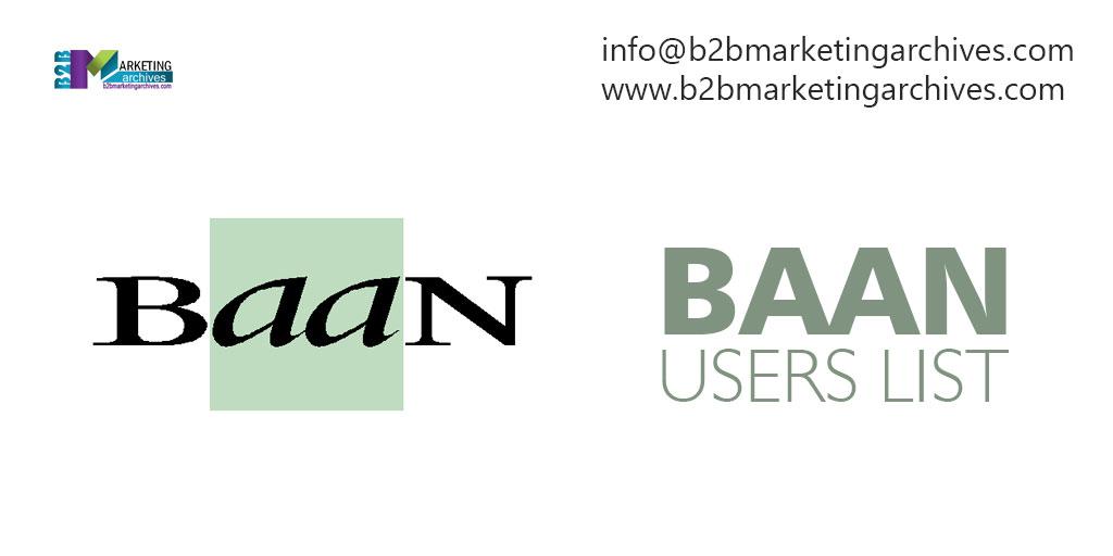 Baan Users List—B2B Marketing Archives